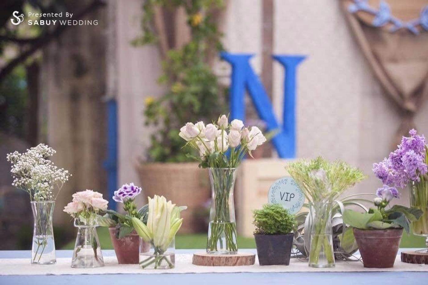 จัดดอกไม้งานแต่ง,ตกแต่งงานแต่ง รีวิวงานแต่งที่บ้าน เล็กแต่เก๋ อบอุ่นน่าจดจำ โลเคชั่นต่างจังหวัดก็ไม่ต้องกังวล